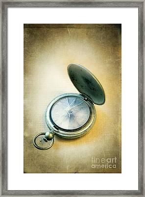 Broken Pocket Watch Framed Print by Jill Battaglia