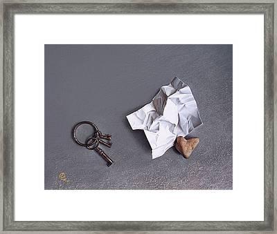 Broken Promise - 2 Framed Print by Elena Kolotusha