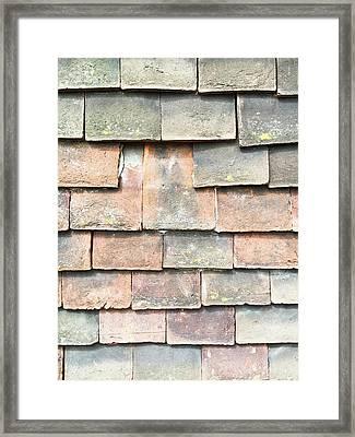 Broken Roof Tile Framed Print