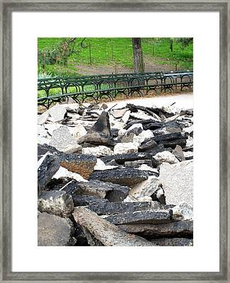 Framed Print featuring the photograph Broken Sidewalk by Lola Connelly