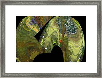 Broken Spehres Abstract Framed Print by Jeff Swan