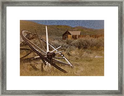 Framed Print featuring the photograph Broken Spokes by Lana Trussell