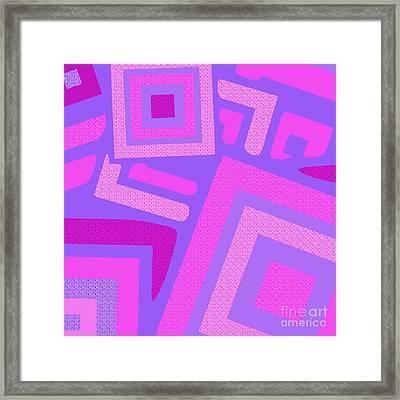 Broken Squares Framed Print