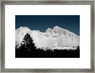 Broken-top Moon Glow Framed Print