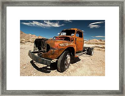 Broken Truck Framed Print by Christian Hallweger