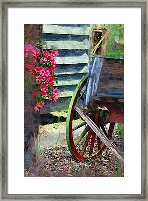 Framed Print featuring the photograph Broken Wagon by Donna Bentley