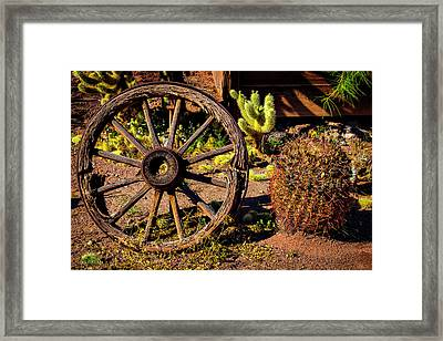 Broken Wagonwheel Framed Print by Garry Gay