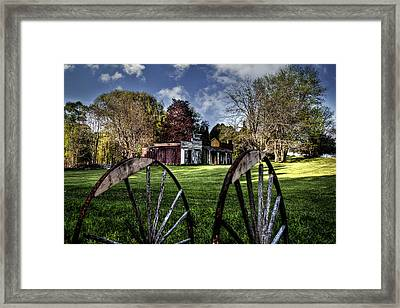 Broken Wheel Ranch Framed Print by Deborah Klubertanz