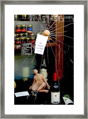 Broken Window Display Framed Print by Michael Riley