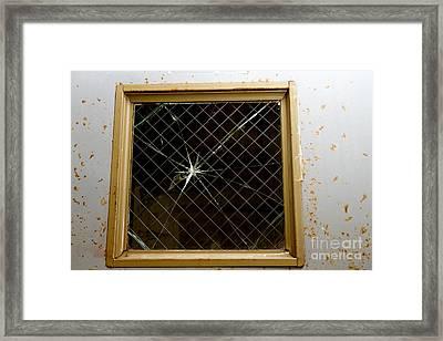 Broken Window Framed Print by Karen Foley
