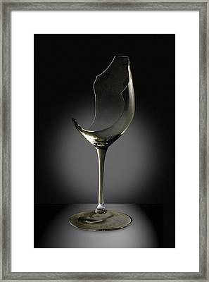 Broken Wine Glass Framed Print by Yuri Lev