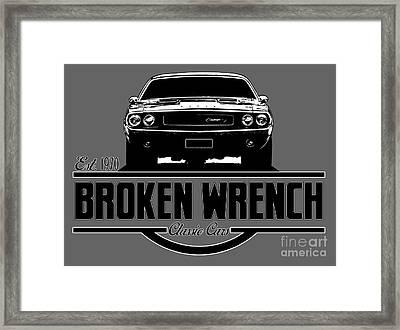 Broken Wrench Challenger Framed Print by Paul Kuras