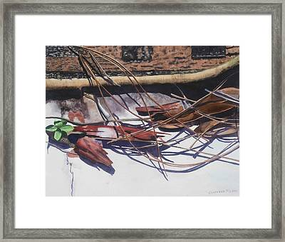 Brokendownontheground Framed Print by Cory Clifford