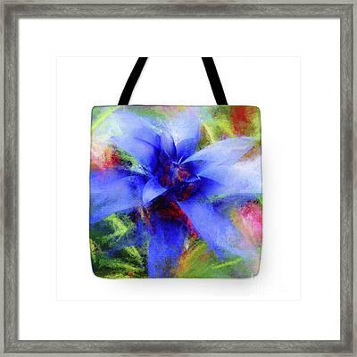 Bromeliad Lavender Blue - Tote Framed Print by Mona Stut