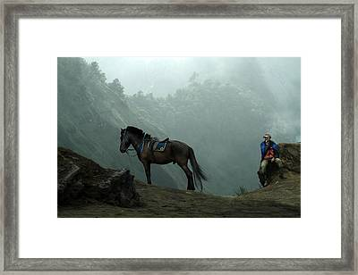 Bromo Framed Print by Andre Arment