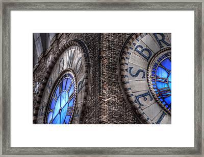 Bromo Seltzer Tower Clock Face #2 Framed Print