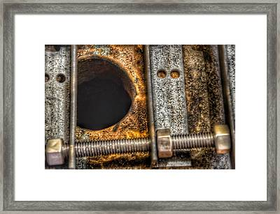 Bromo Seltzer Tower's 1911 Seth Thomas Clock Mechanism Abstract #11 Framed Print by Marianna Mills
