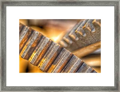 Bromo Seltzer Tower's 1911 Seth Thomas Clock Mechanism Abstract #12 Framed Print by Marianna Mills