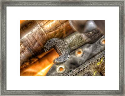 Bromo Seltzer Tower's 1911 Seth Thomas Clock Mechanism Abstract #15 Framed Print by Marianna Mills
