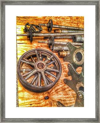 Bromo Seltzer Tower's 1911 Seth Thomas Clock Mechanism Abstract #2 Framed Print by Marianna Mills