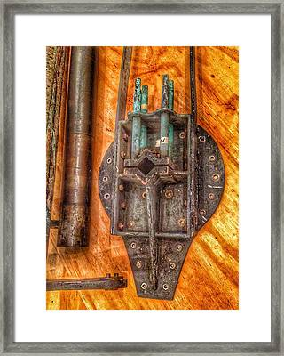 Bromo Seltzer Tower's 1911 Seth Thomas Clock Mechanism Abstract #4 Framed Print by Marianna Mills