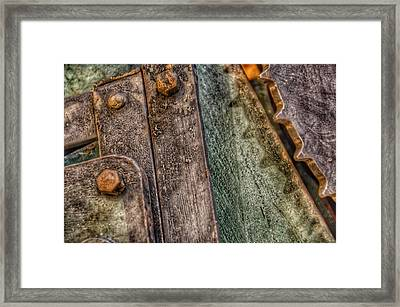 Bromo Seltzer Tower's 1911 Seth Thomas Clock Mechanism Abstract #5 Framed Print by Marianna Mills