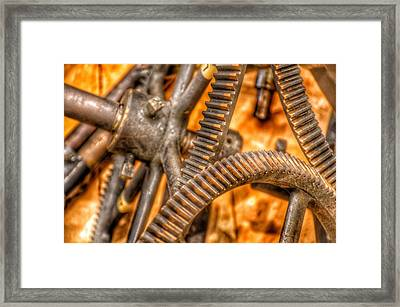 Bromo Seltzer Tower's 1911 Seth Thomas Clock Mechanism Abstract #6 Framed Print by Marianna Mills