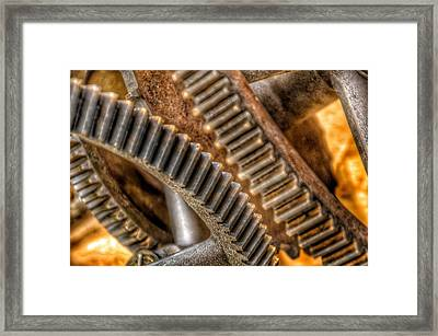 Bromo Seltzer Tower's 1911 Seth Thomas Clock Mechanism Abstract #7 Framed Print by Marianna Mills