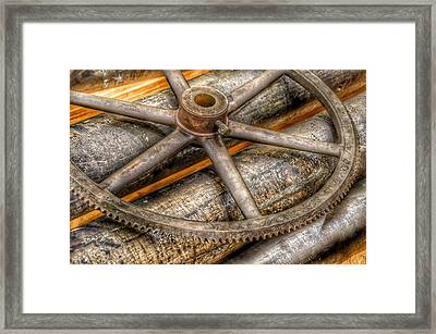 Bromo Seltzer Tower's 1911 Seth Thomas Clock Mechanism Abstract #8 Framed Print by Marianna Mills