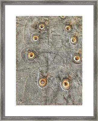 Bromo Seltzer Tower's 1911 Seth Thomas Clock Mechanism Abstract #1 Framed Print by Marianna Mills