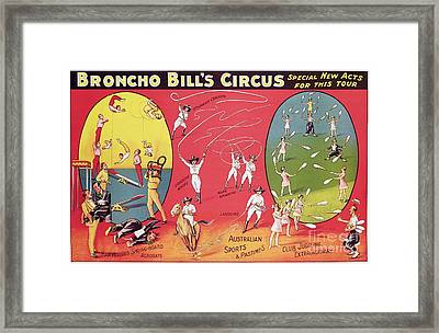 Bronco Bills Circus Framed Print