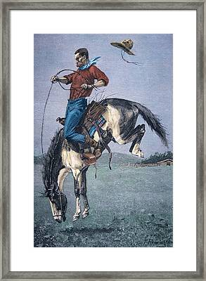 Bronco Buster Framed Print by Frederic Remington