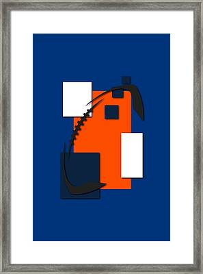 Broncos Abstract Shirt Framed Print