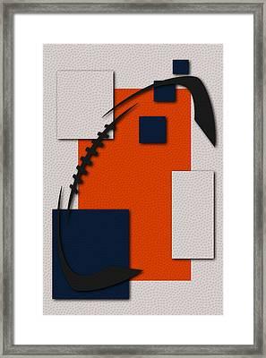 Broncos Football Art Framed Print by Joe Hamilton