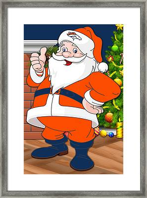 Broncos Santa Claus Framed Print by Joe Hamilton