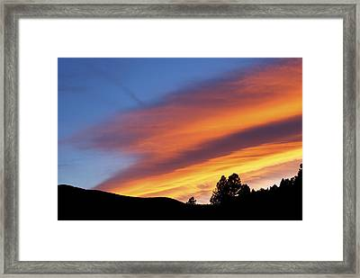 Broncos Sunset Framed Print