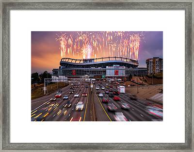 Broncos Win Afc Championship Game 2016 Framed Print by Darren White