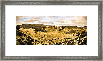 Bronte Park Valley Panorama  Framed Print