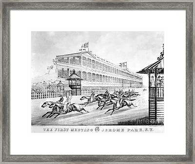 Bronx: Horse Race, 1866 Framed Print by Granger