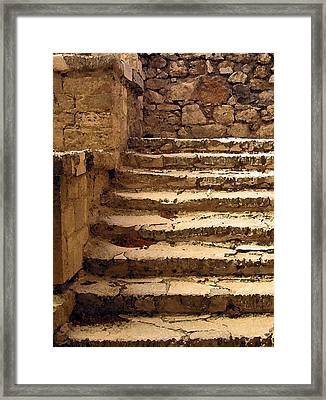 Bronze Age Stairs Framed Print