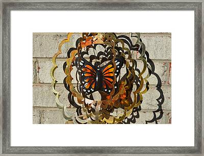 Bronze And Shadows Framed Print by Anne-elizabeth Whiteway
