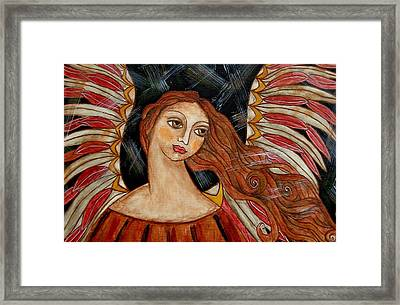 Bronze Angel Framed Print by Rain Ririn