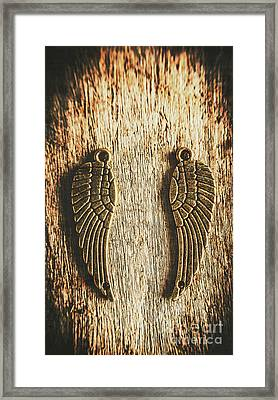 Bronze Angel Wings Framed Print