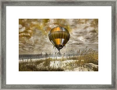 Bronze Beach Ballooning Framed Print by Betsy Knapp