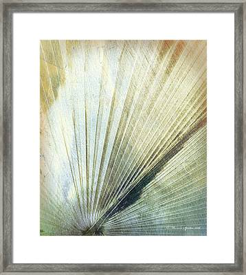Bronze Blue Palm Frond Rh Framed Print
