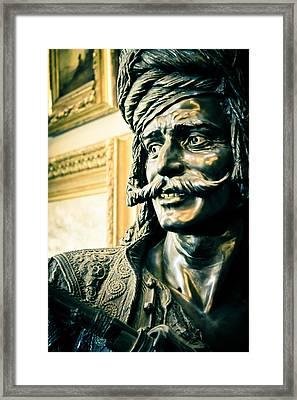 Bronze Bust - The Golden Age Framed Print by Colleen Kammerer