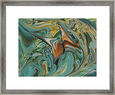Bronze Butterfly Framed Print
