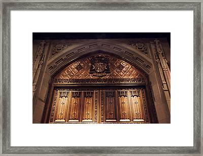 Bronze Doors Of St. Patrick's Framed Print