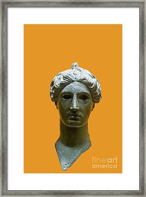 Bronze Head Of Nike  Framed Print by Ilan Rosen