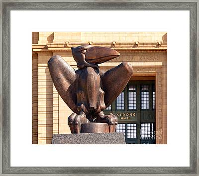 Bronze Jayhawk Framed Print by Catherine Sherman